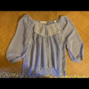 Abercrombie and Fitch Blue Chiffon Blouse